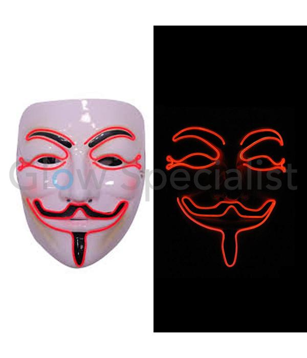 EL WIRE ANONYMOUS - V MASK FOR VENDETTA - RED
