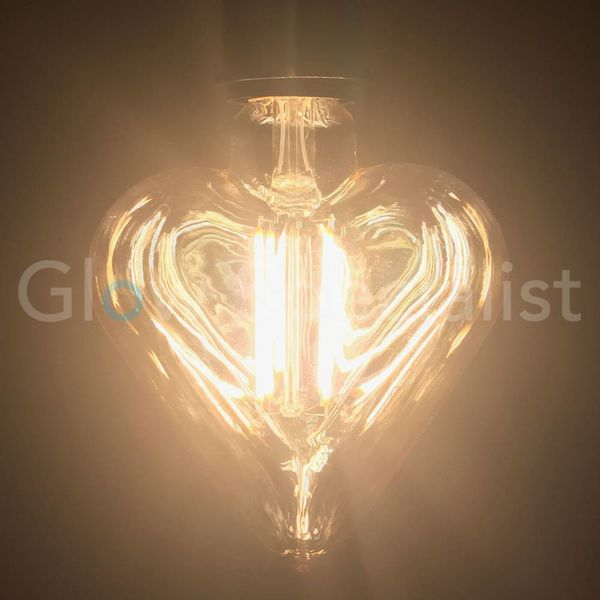 LED FILAMENT LAMP EDISON - 4W - 300 LUMEN - E27 - HEART