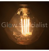 LED FILAMENT LAMP EDISON - 4W - 300 LUMEN - E27 - FLAT DIAMOND