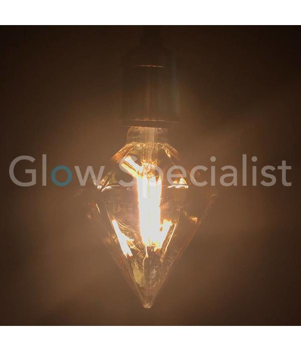 LED FILAMENT LAMP EDISON - 4W - 300 LUMEN - E27 - TIP DIAMOND
