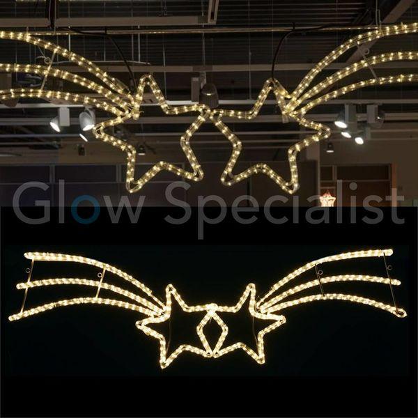 LED STREET LIGHT - 2 FALLING STARS - 432 LED - WARM WHITE
