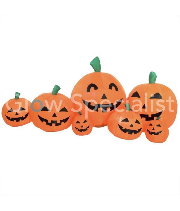 Halloween Verlichting.Europalms Opblaasbare Halloween Pompoen Familie Met Verlichting 235 X 95 Cm