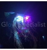 Europalms HALLOWEEN HEKS MET APPEL EN COLOR CHANGING LED - 170CM