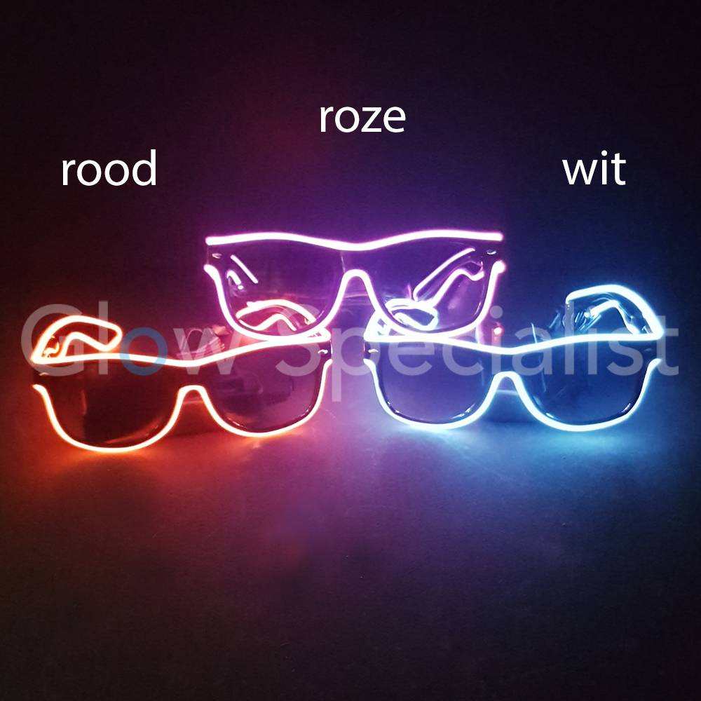 eb31283842d LED EL-WIRE GLASSES WITH DARK GLASSES - RED - Glow Specialist - Glow ...
