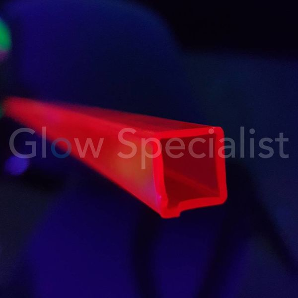 UV / BLACKLIGHT TUBE - 10x10MM - RED - PER METER