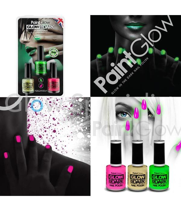 - PaintGlow PAINTGLOW GLOW IN THE DARK  UV NAGELLAK - SET VAN 3