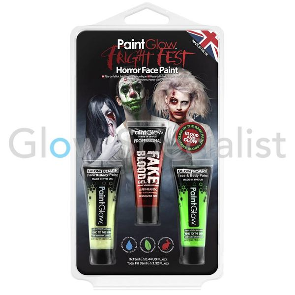 PAINTGLOW  FRIGHT FEST HALLOWEEN BLOOD & GLOW - SET VAN 3