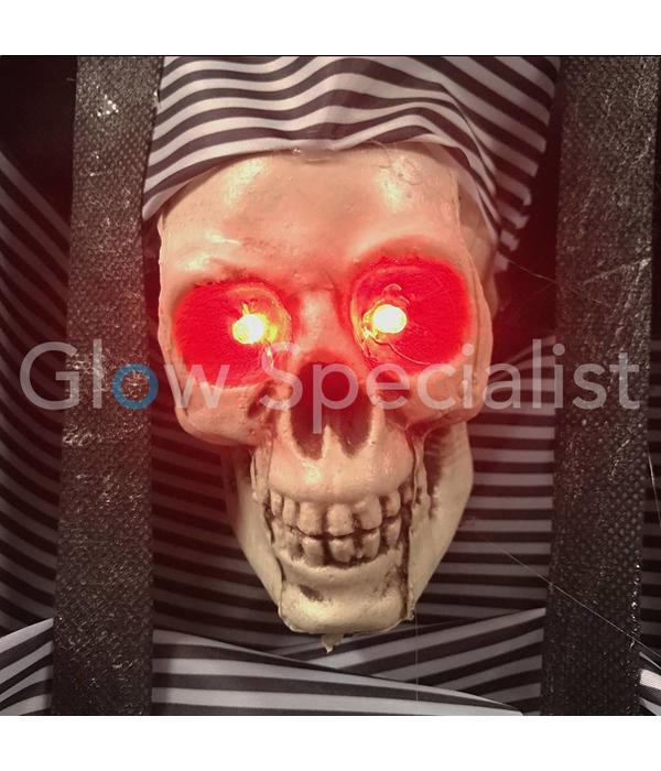 Europalms HALLOWEEN WALL DECORATION WITH PRISONER - WITH RED LED EYES - 46 CM