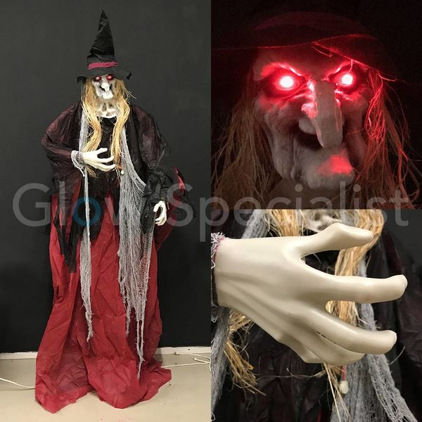 HALLOWEEN WITCH AMBROSIA  - WITH LIGHT AND SOUND - 180 CM