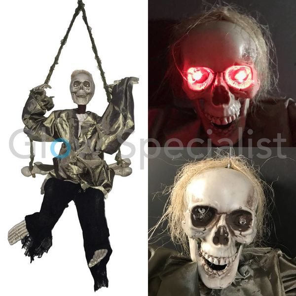 HALLOWEEN KICKING DEATHSWINGER  - WITH LIGHT, SOUND AND MOTION  - 91 CM