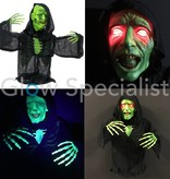 Europalms HALLOWEEN UV ZOMBIE HALF BODY WITH RED LED EYES - 73 CM
