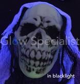 Europalms HALLOWEEN GLOW IN THE DARK SKELETON WHITE WOMAN  -  210 CM