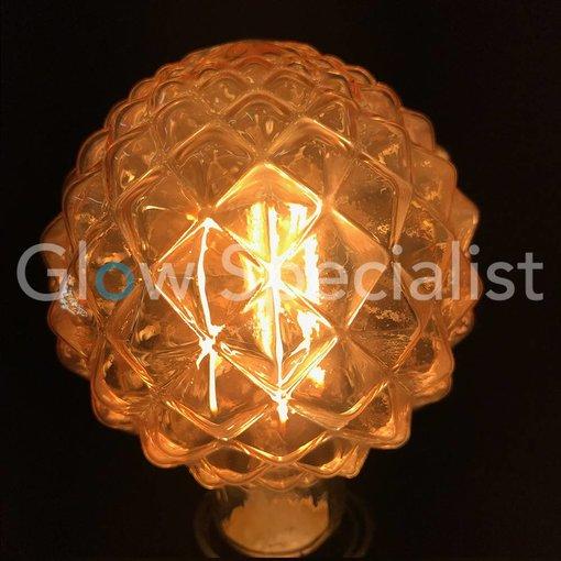 LED FILAMENT LAMP EDISON - 4W - 300 LUMEN - E27 - G95 - PINEAPPLE
