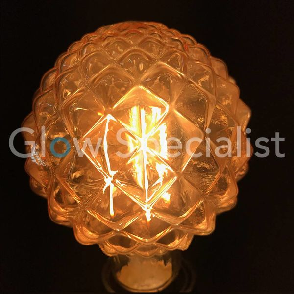 LED FILAMENT LAMP EDISON - 4W - 300 LUMEN - E27 - G95 - PINEAPPLE