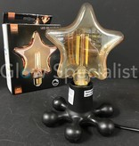 LED FILAMENT LAMP EDISON - 4W - 300 LUMEN - E27 - STAR