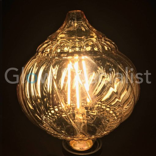 LED FILAMENT LAMP EDISON - 4W - 300 LUMEN - E27 - PUMPKIN