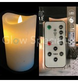 LED CANDLE WITH DANCING FLAME AND REMOTE CONTROL WITH DIMMER AND TIMER