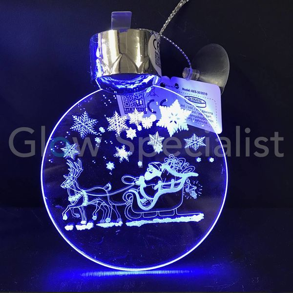 LED CHRISTMAS WINDOW DECORATION WITH ANIMATION - ASSORTMENT