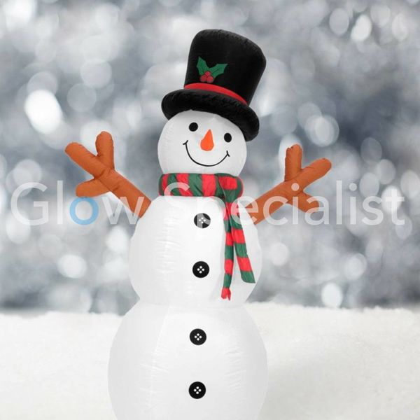 INFLATABLE SNOWMAN WITH LED LIGHT - 180 CM