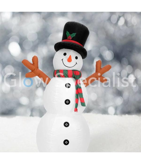 Europalms INFLATABLE SNOWMAN WITH LED LIGHT - 180 CM