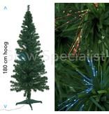 Europalms FIBER LED GREEN CHRISTMAS TREE - COLOR CHANGING - 180 CM
