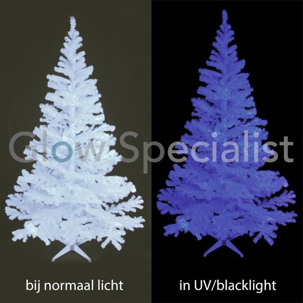 UV / BLACKLIGHT TREE - 210 CM WHITE