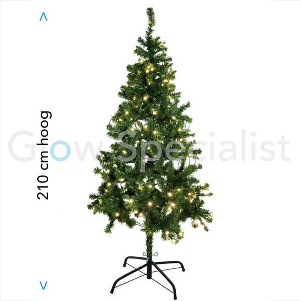 LED CHRISTMAS TREE - 270 LED WARM WHITE - 210 CM