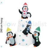 Europalms INFLATABLE ICEBERG WITH PENGUINS WITH LED LIGHT - 240 CM