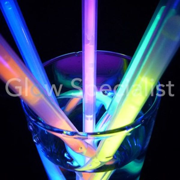 GLOW STRAWS - 25 PIECES