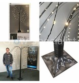 WILLOW TREE BLACK WITH 144 LED - WARM WHITE - 180CM