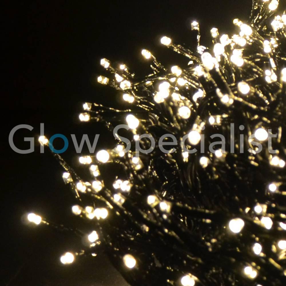 Led Christmas Lights Warm White.Led Cluster Lighting 1152 Lights Warm White With App
