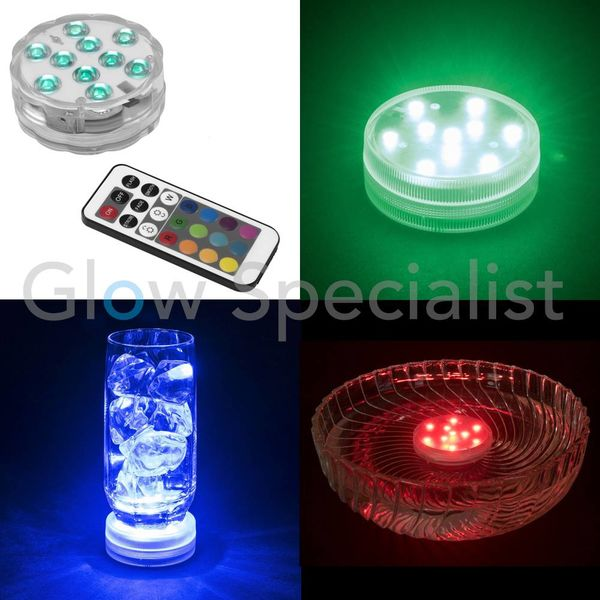 EUROLITE LED PUCK LIGHT COLOR CHANGING WITH REMOTE CONTROL