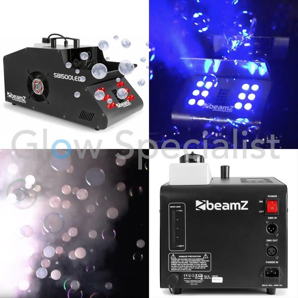 BEAMZ SB1500 SMOKE & BUBBLE MACHINE