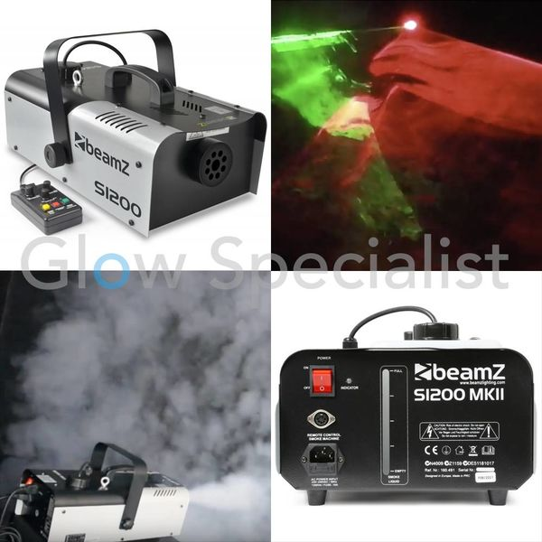 BEAMZ S1200 MKII SMOKE MACHINE WITH TIMER CONTROL