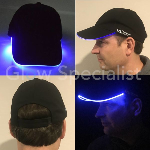 LED LIGHT UP BASEBALL CAP - BLAUW LICHT