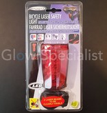 BICYCLE REAR LIGHT - 5 LED WITH LASER