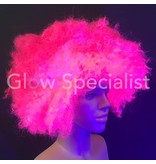 NEON PINK AFRO WIG