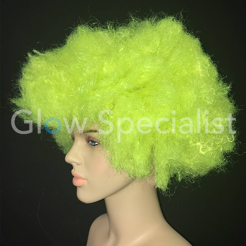 NEON YELLOW AFRO WIG - Glow Specialist