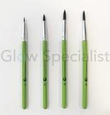 - Cameleon CAMELEON BRUSH - BLACK ROUND POINT - NR 6 - SHORT GREEN HANDLE