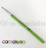 - Cameleon CAMELEON BRUSH - BLACK ROUND POINT - NR 0 - SHORT GREEN HANDLE