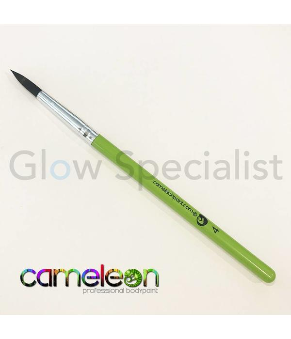 - Cameleon CAMELEON BRUSH - BLACK ROUND POINT - NR 4 - SHORT GREEN HANDLE