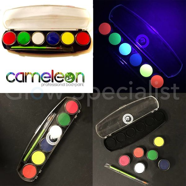 CAMELEON BIG ADULT UV PARTY BOX PALETTE - 6 COLORS