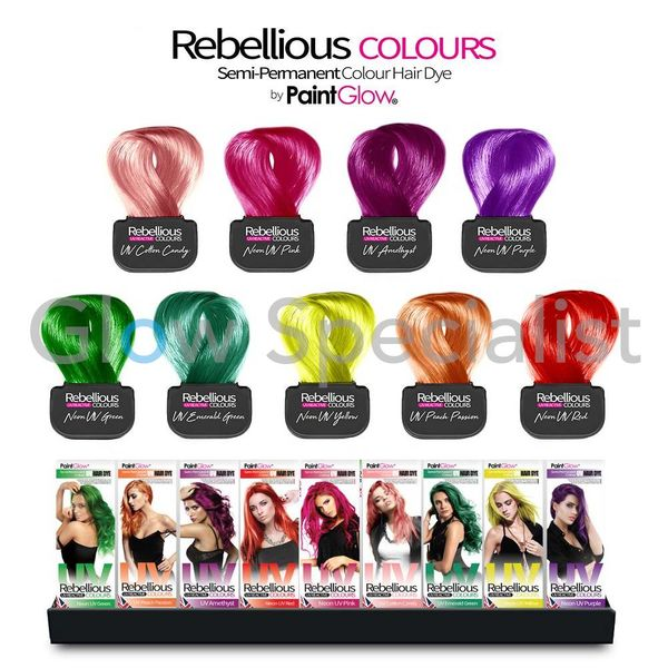 PAINTGLOW REBELLIOUS UV HAIR DYE
