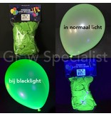 UV LATEX BALLOONS - NEON GREEN - 100 PIECES