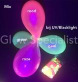UV LATEX BALLONNEN - NEON GROEN - 100 STUKS