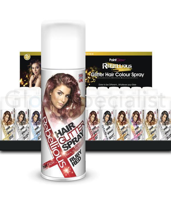 PAINTGLOW REBELLIOUS HAIR GLITTER SPRAY - Glow Specialist - Glow ...