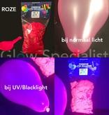 UV LATEX BALLONNEN - NEON ROZE - 100 STUKS