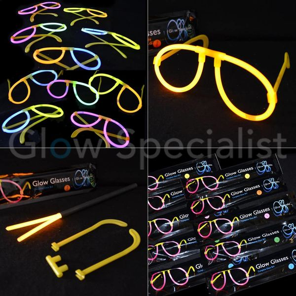 GLOW GLASSES COMPLETE - 10 PCS