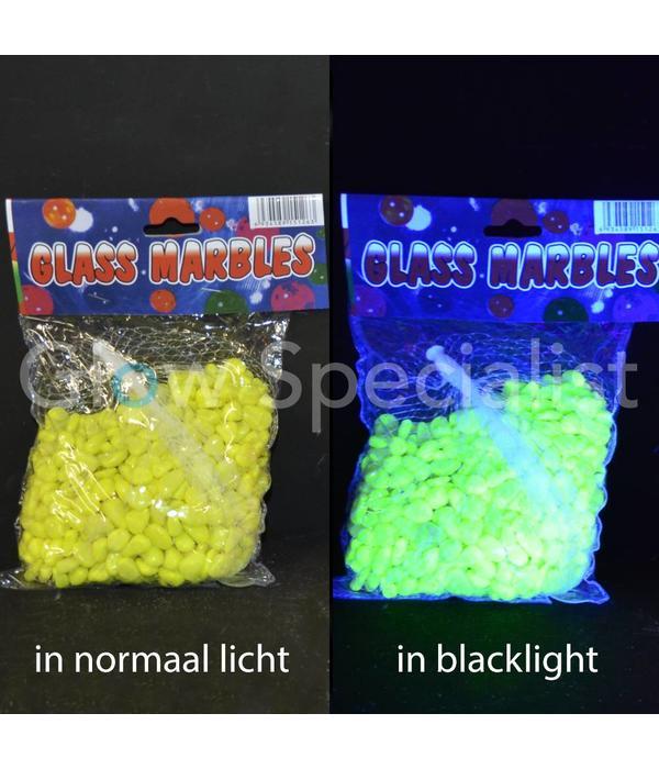 UV/BLACKLIGHT STEENTJES - 500 GRAM - 4 KLEUREN
