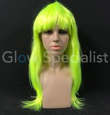 NEON YELLOW WIG - LONG STRAIGHT HAIR WITH BANGS